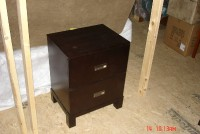 Cappuccino 2 drawer nightstand