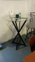 "Johnston Casuals Bar Height Table with 30"" glass"