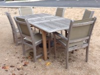 "Evanston 92"" x 40"" extension table with 4 Side and 2 Arm St. Tropez Chairs"