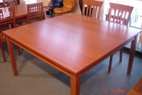 "Cherry 54"" square table"