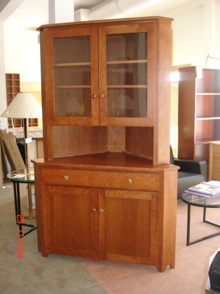 van hollow corner cabinet richard parks furniture maine